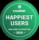 Crozdesk Happiest Users Badge